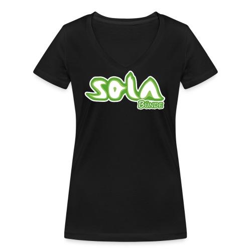 Sola Buende Logo 2017 - Frauen Bio-T-Shirt mit V-Ausschnitt von Stanley & Stella