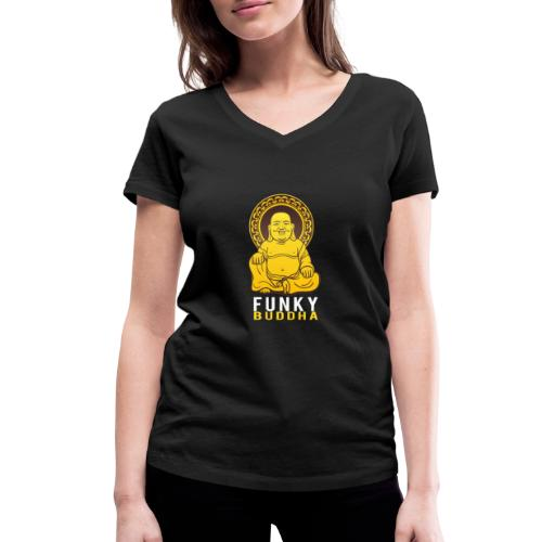 Funky Buddha - Frauen Bio-T-Shirt mit V-Ausschnitt von Stanley & Stella
