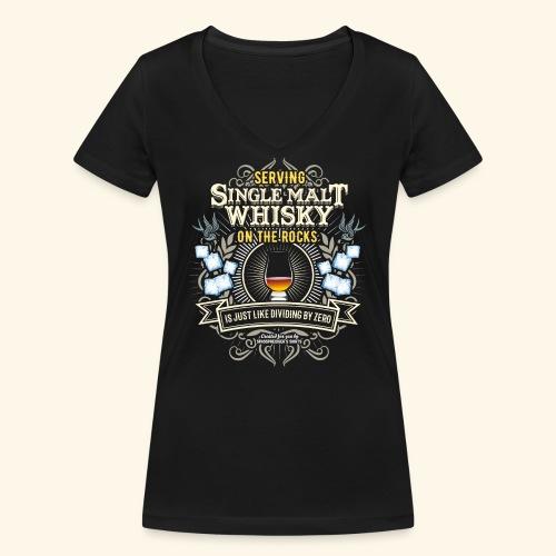 Whisky T Shirt Single Malt on the Rocks - Frauen Bio-T-Shirt mit V-Ausschnitt von Stanley & Stella