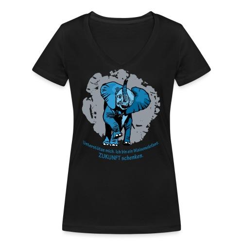 Zukunft schenken - Frauen Bio-T-Shirt mit V-Ausschnitt von Stanley & Stella