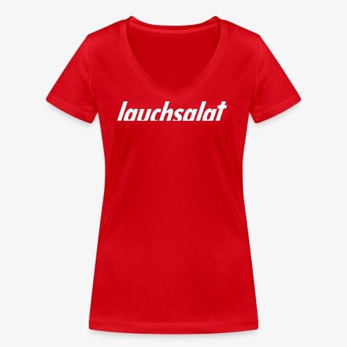lauchsalat - Frauen Bio-T-Shirt mit V-Ausschnitt von Stanley & Stella