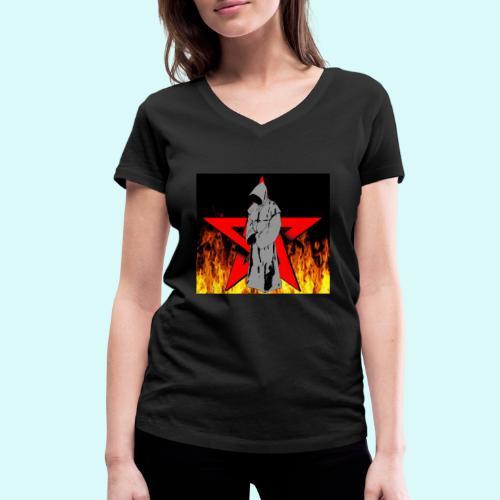 moine et pentagramme - T-shirt bio col V Stanley & Stella Femme