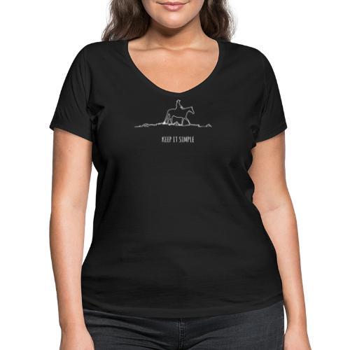 Keep it simple Western - Frauen Bio-T-Shirt mit V-Ausschnitt von Stanley & Stella