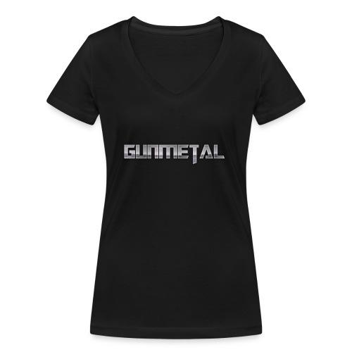 Gunmetal - Women's Organic V-Neck T-Shirt by Stanley & Stella