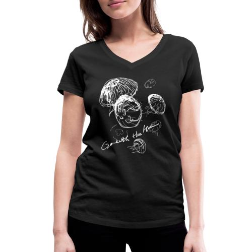 Go with the flow - Women's Organic V-Neck T-Shirt by Stanley & Stella