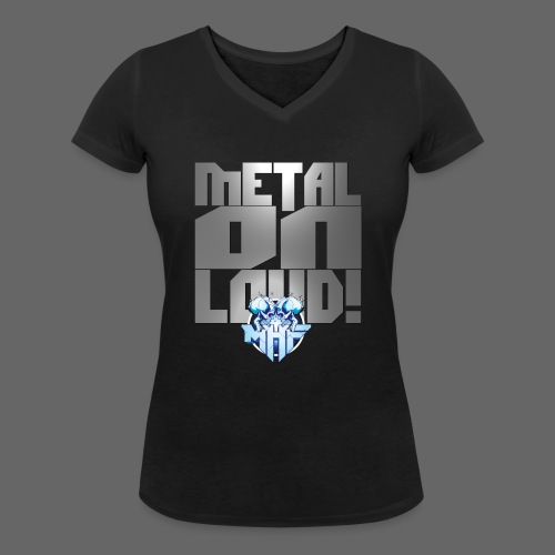 metalonloud large 4k png - Women's Organic V-Neck T-Shirt by Stanley & Stella