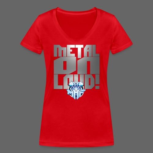 metalonloud large 4k png - Women's Organic V-Neck T-Shirt by Stanley & Stella