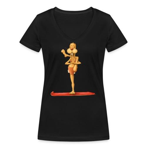 Yoga - Rabbit - Frauen Bio-T-Shirt mit V-Ausschnitt von Stanley & Stella