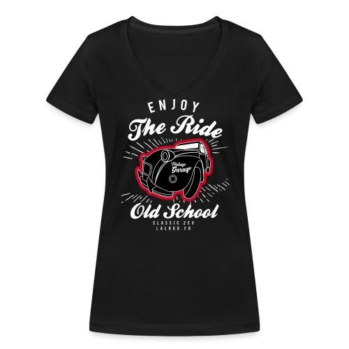 T-shirt Enjoy The Ride 2cv - T-shirt bio col V Stanley & Stella Femme