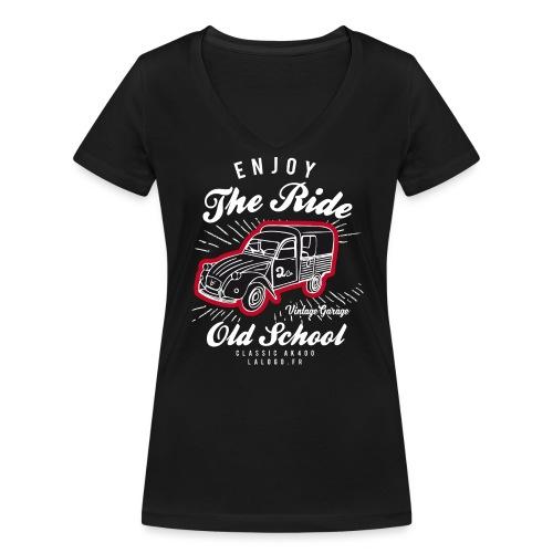 T-shirt Enjoy The Ride 2cv AK400 - T-shirt bio col V Stanley & Stella Femme