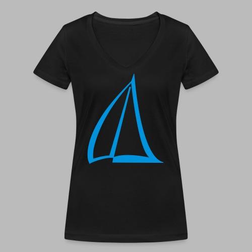 Segel Einfarbig Pictogram - Frauen Bio-T-Shirt mit V-Ausschnitt von Stanley & Stella