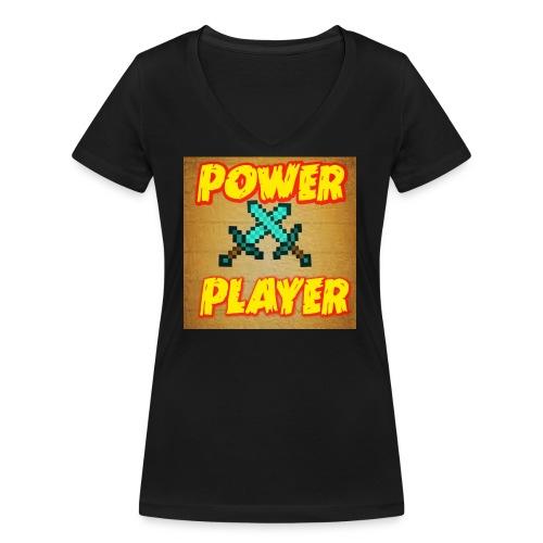 NUOVA LINEA POWER PLAYER - T-shirt ecologica da donna con scollo a V di Stanley & Stella