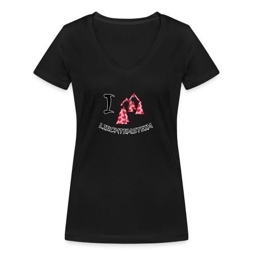 I Love Liechtenstein - Women's Organic V-Neck T-Shirt by Stanley & Stella