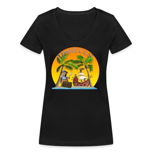 Piraten - Schatz - Frauen Bio-T-Shirt mit V-Ausschnitt von Stanley & Stella
