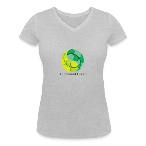 Cinewood Green - Women's Organic V-Neck T-Shirt by Stanley & Stella