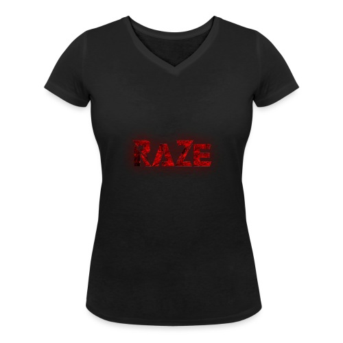 RaZe Logo - Women's Organic V-Neck T-Shirt by Stanley & Stella
