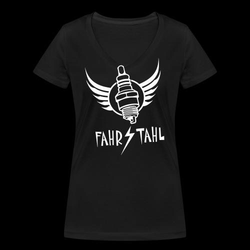 Fahrstahl Zündkerze - Frauen Bio-T-Shirt mit V-Ausschnitt von Stanley & Stella