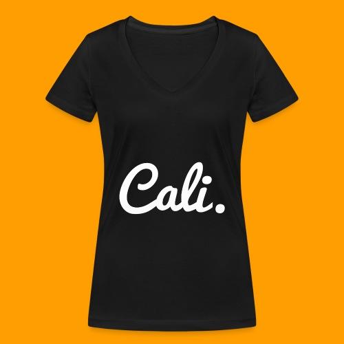 Cali s Logo Weiss - Frauen Bio-T-Shirt mit V-Ausschnitt von Stanley & Stella