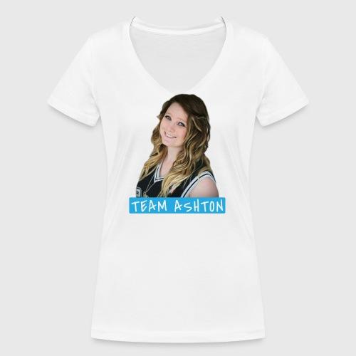Team Ashton - Women's Organic V-Neck T-Shirt by Stanley & Stella