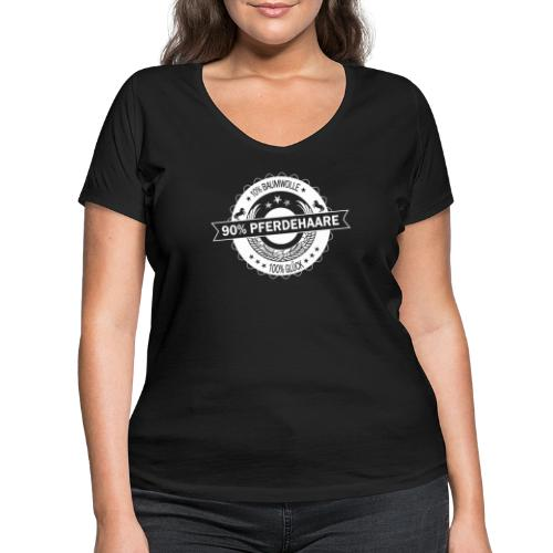90 Pferdehaare - Frauen Bio-T-Shirt mit V-Ausschnitt von Stanley & Stella