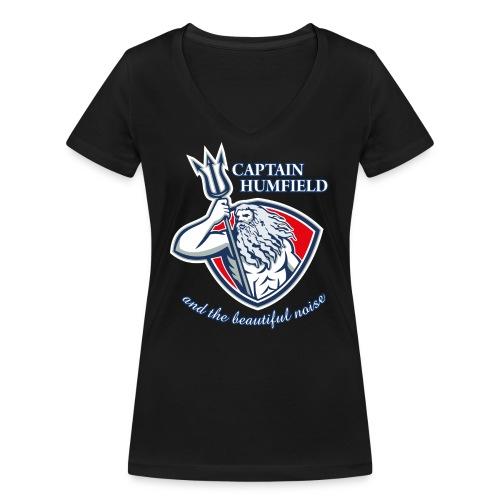 Captain Humfield Logo - Frauen Bio-T-Shirt mit V-Ausschnitt von Stanley & Stella