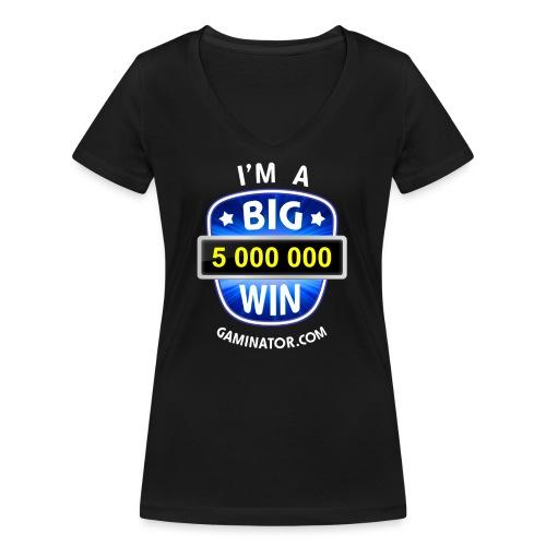 Big Win - Women's Organic V-Neck T-Shirt by Stanley & Stella