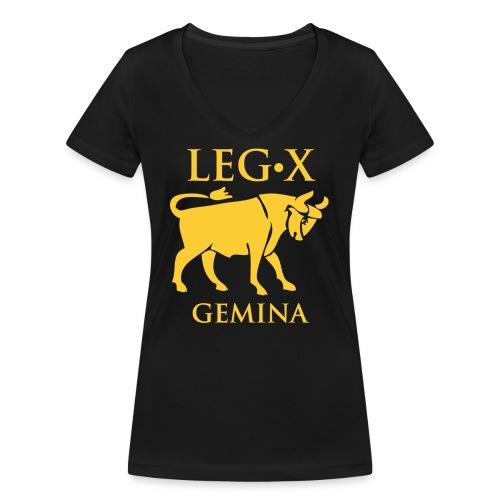 leg_x_gemina - T-shirt ecologica da donna con scollo a V di Stanley & Stella