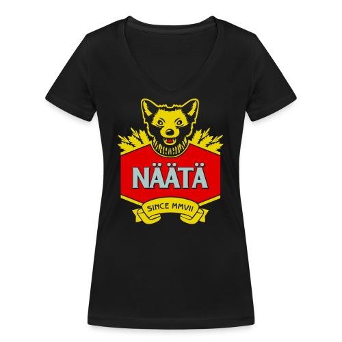 Näätä - Stanley & Stellan naisten v-aukkoinen luomu-T-paita
