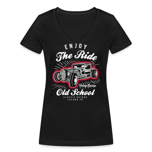 T-shirt Enjoy The Ride Hot Rod - T-shirt bio col V Stanley & Stella Femme