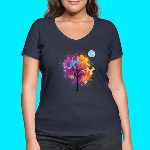 LOGO AUTUNNO BANCOMATTI - T-shirt ecologica da donna con scollo a V di Stanley & Stella