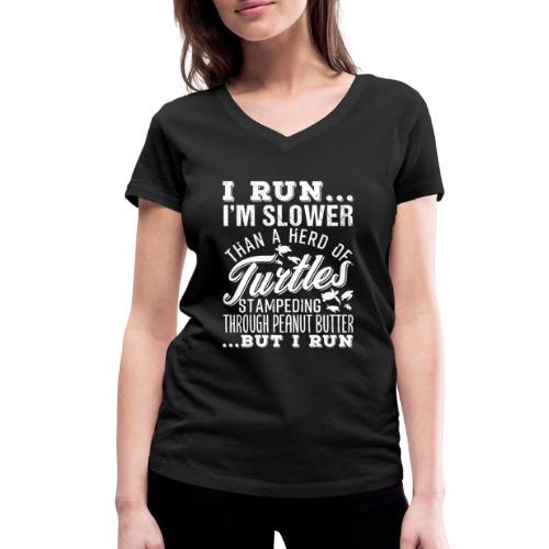 Run Turtles As Fast As We Can - Frauen Bio-T-Shirt mit V-Ausschnitt von Stanley & Stella