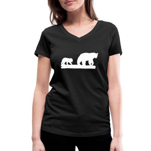 Bär Bären Grizzly Raubtier Wildnis Nordamerika - Frauen Bio-T-Shirt mit V-Ausschnitt von Stanley & Stella