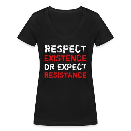 respect existence or expe - Stanley & Stellan naisten v-aukkoinen luomu-T-paita