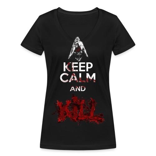 Keep Calm and Kill Nino Seiseisei - T-shirt ecologica da donna con scollo a V di Stanley & Stella