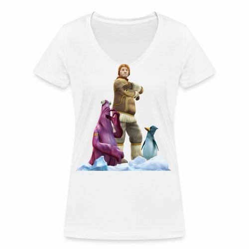 Vieh Chroniken Pose - Women's Organic V-Neck T-Shirt by Stanley & Stella
