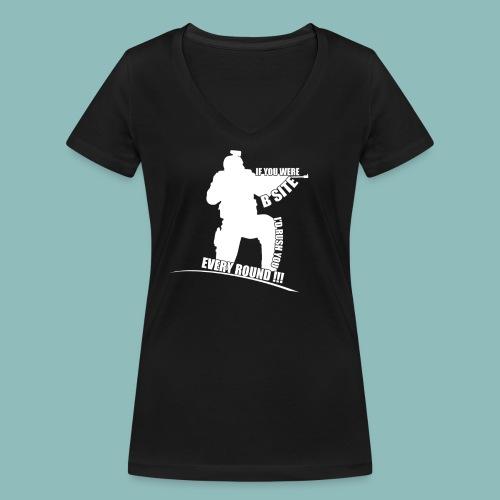 I'd rush you! White Version - Frauen Bio-T-Shirt mit V-Ausschnitt von Stanley & Stella