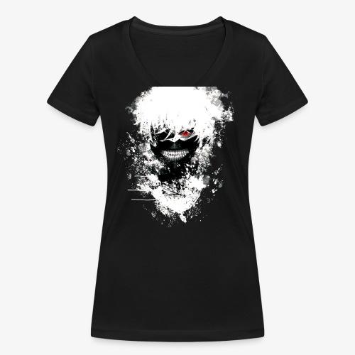 Kaneki Eye Patch - Women's Organic V-Neck T-Shirt by Stanley & Stella