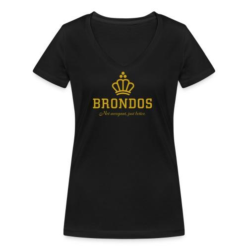 Brondos - Stanley & Stellan naisten v-aukkoinen luomu-T-paita