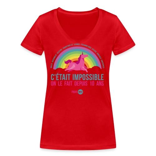 c était impossible sac - T-shirt bio col V Stanley & Stella Femme