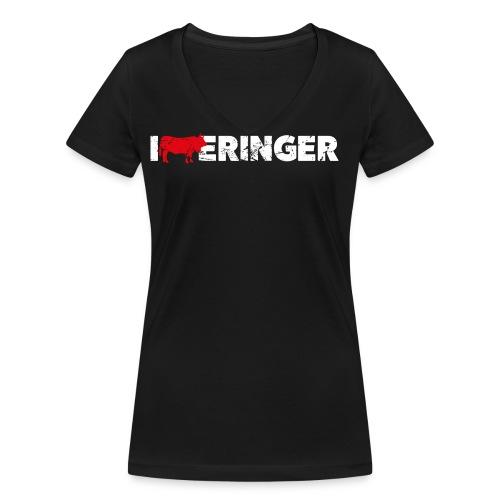 I LOVE ERINGER - Frauen Bio-T-Shirt mit V-Ausschnitt von Stanley & Stella