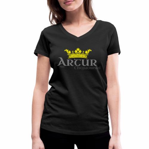 King A Store - Ekologiczna koszulka damska z dekoltem w serek Stanley & Stella