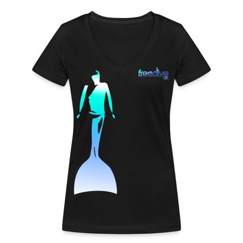 monofinnertee - Women's Organic V-Neck T-Shirt by Stanley & Stella