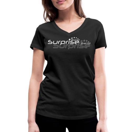 Logo Suprise Band mit Cut-Out - Frauen Bio-T-Shirt mit V-Ausschnitt von Stanley & Stella