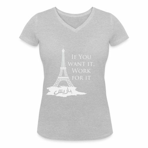 Paris dream work - T-shirt bio col V Stanley & Stella Femme