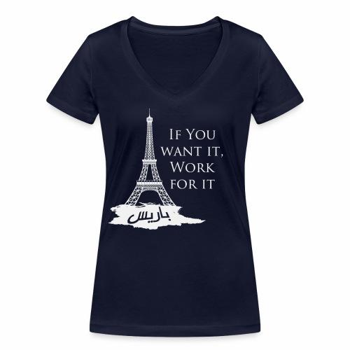 Paris dream work - T-shirt bio col V Stanley & Stella Femme