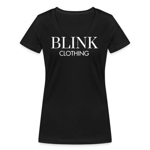 Blink TEKST - Vrouwen bio T-shirt met V-hals van Stanley & Stella