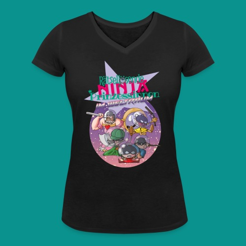 Ninja Prinzessinnen - Frauen Bio-T-Shirt mit V-Ausschnitt von Stanley & Stella