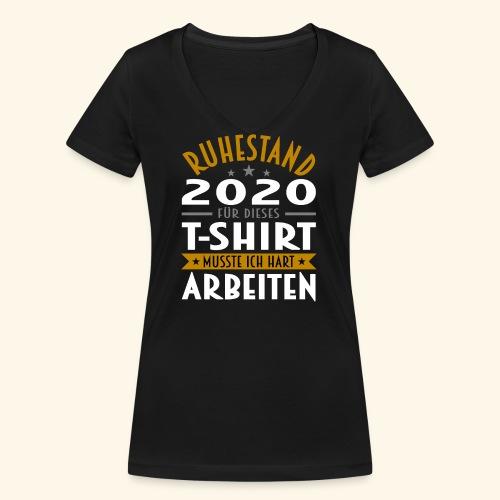 Ruhestand 2020 - Frauen Bio-T-Shirt mit V-Ausschnitt von Stanley & Stella