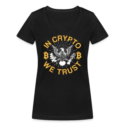 IN CRYPTO WE TRUST - Frauen Bio-T-Shirt mit V-Ausschnitt von Stanley & Stella
