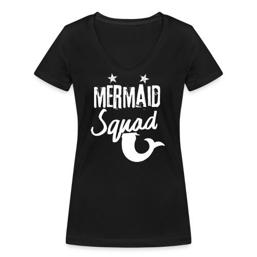 Meerjungfrau-Trupp-Kader - Frauen Bio-T-Shirt mit V-Ausschnitt von Stanley & Stella